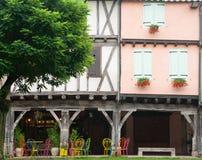 Windows en Mirepoix Francia Fotografía de archivo