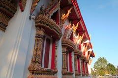 Windows en un templo en Tailandia Fotos de archivo libres de regalías