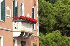 Windows et balcons à Venise, Italie Images libres de droits