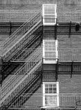 Windows et escaliers Photos stock