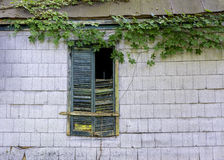 Windows et homw d'abandon de PF de murs Photos stock
