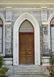 Windows et mur de nativité d'église de notre Madame Cathedral photographie stock libre de droits