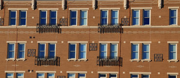 Windows Facade. Beautiful windows aligned next to each other that gives a great abstract look Royalty Free Stock Photo