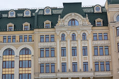 Windows on the facade of the building in classical style Royalty Free Stock Photo