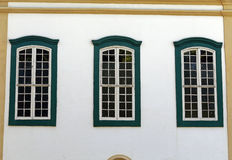 Windows in facade of colonial style, in Sao Paulo Royalty Free Stock Photo