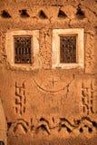 Windows. Facade detail . Ouarzazate. Morocco. Royalty Free Stock Images
