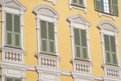 Windows on the facade of a historical house Royalty Free Stock Photography