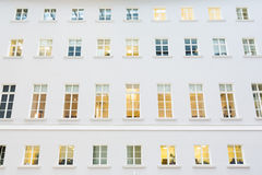 Windows on the facade of a modern building Stock Photography