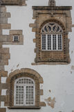 Windows on facade of the old building in Braga Stock Photography