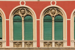 Windows. Facade. Republic Square. Split. Croatia Stock Photography