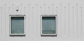 Windows in a facade Royalty Free Stock Image