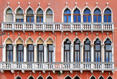 Windows facade Venice Stock Photos