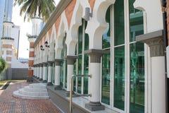 Windows of Famous mosque in Kuala Lumpur, Malaysia - Masjid Jamek Stock Image