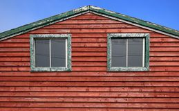 Windows of Fishing Shack Royalty Free Stock Image
