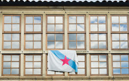 Windows and flag stock images