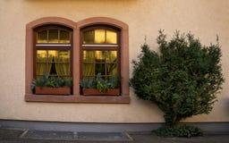 Windows with flowers Staufen im Breisgau Schwarzwald germany stock images