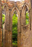 Windows of a former medieval Gothic church Stock Photography