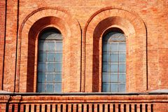 Windows in fortress wall Royalty Free Stock Photos