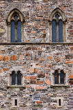 Windows in fortress wall - Bergen Norway Royalty Free Stock Images