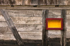 Windows frame on old wooden wall Royalty Free Stock Images