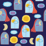 Windows funny seamless pattern Stock Photography