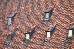 Windows and garret roof Royalty Free Stock Images