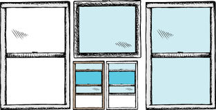 Windows genérico ilustración del vector