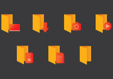 Windows general folder icons Royalty Free Stock Image