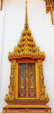 Windows. Generally in Thailand, any kinds of art decorated in buddhist church, temple pavilion Royalty Free Stock Image