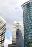 Windows geometry of city skyscrapers. Royalty Free Stock Image