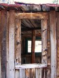 Windows in the ghost town of Ironton, Colorado Royalty Free Stock Photography