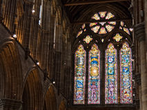 Windows of Glasgow Cathedral Stock Images