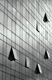 Windows. Glass building with open windows Royalty Free Stock Image