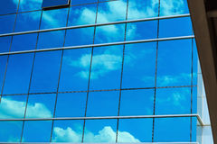 Windows glass of  office building with cloud Stock Image