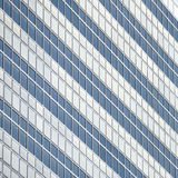 Windows - glass and steel. Modern architecture of an office building, detail of the windows made out of glass and steel Stock Image