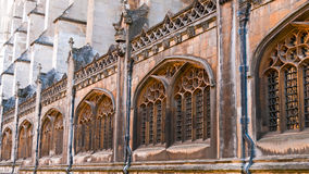 Windows on gothic building Royalty Free Stock Photo