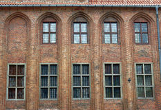 Windows in gothic City Hall Royalty Free Stock Photo