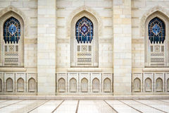 Windows Grand Sultan Qaboos Mosque. Windows of Grand Sultan Qaboos Mosque in Muscat, Oman Royalty Free Stock Images