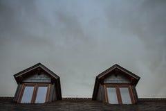 Windows with gray sky Stock Image