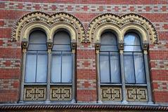 windows of Greek orthodox church, Vienna Royalty Free Stock Image