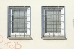 Windows with grids Royalty Free Stock Photography