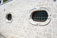Windows with grille stock image
