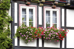 Windows on a half-timbered house Royalty Free Stock Photography
