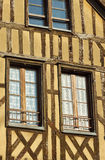 Windows in half-timbered house Stock Photography
