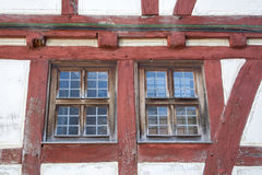 Windows in an half timbered house Royalty Free Stock Photography
