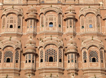 Windows of the Hawa Mahal, Jaipur, India Royalty Free Stock Photography