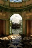The Windows of Heaven. Windows of heaven in the dome room in Viscaya Gardens Royalty Free Stock Image