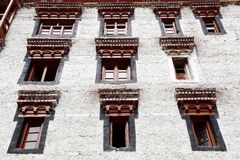 Windows of Hemis monastery, Leh Stock Photography