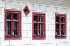 Windows of a historic building Stock Photography