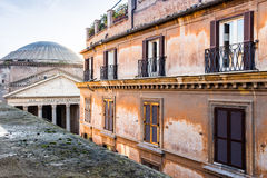 Windows of historical building in the center of Rome Stock Photos